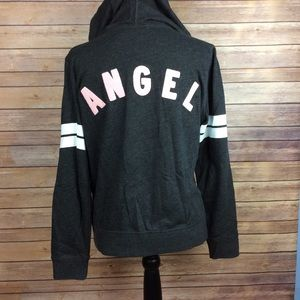 Victorias Secret Hoodie Angel Gray Sweatshirt